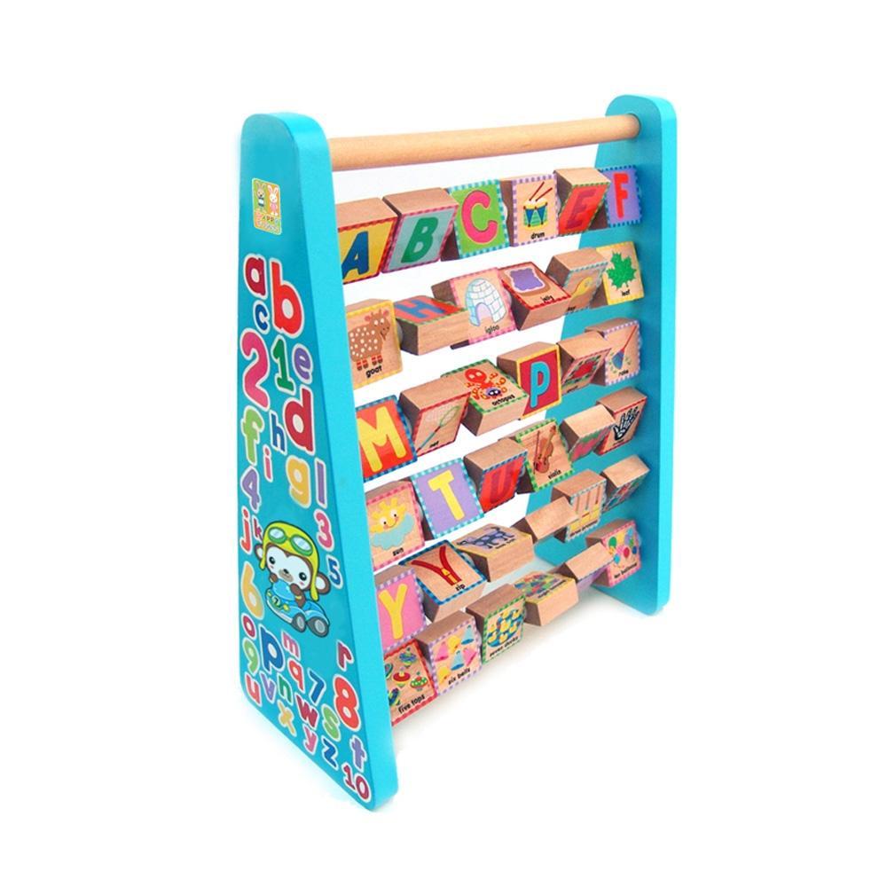 도구 4살 아이 장난감 고급 원목 몽키 주판 유아 학습 퍼즐 블록 블럭 장난감 유아블럭