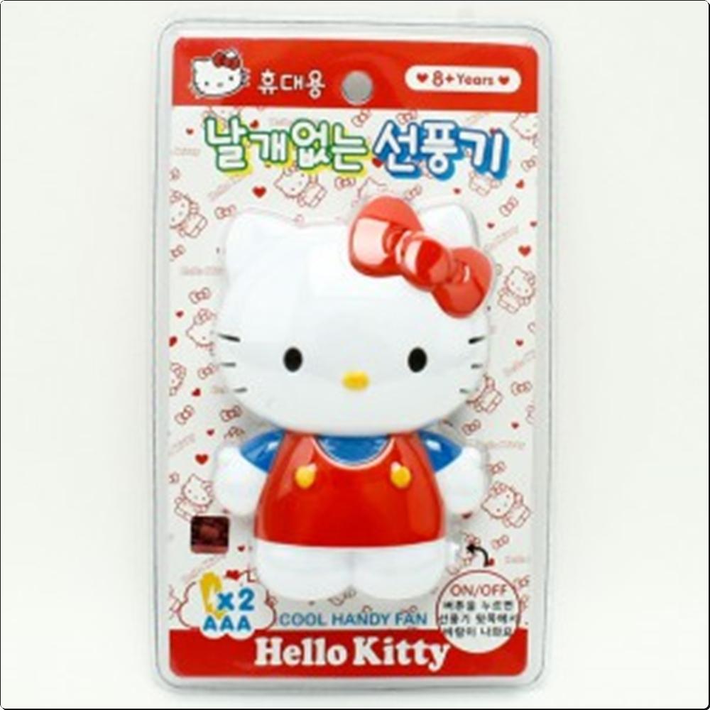 헬로키티 휴대용 날개없는 선풍기(레드)(490014) 캐릭터 캐릭터상품 생활잡화 잡화 유아용품