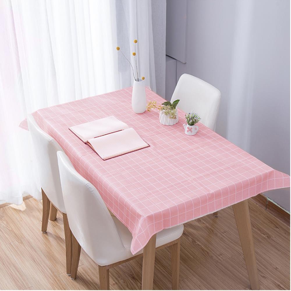 식탁보 격자무늬 핑크 90x137cm 식탁테이블매트 식탁보 식탁커버 테이블보 식탁테이블매트 테미블커버