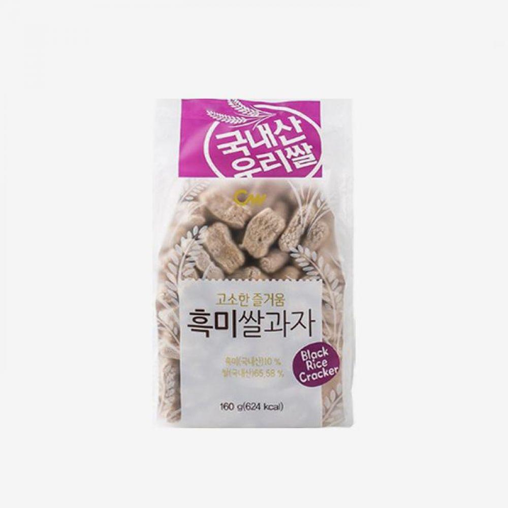 청우 흑미 쌀과자 160g 20개 1박스 청우식품 간식 주전부리 스낵 과자 캔디 흑미 쌀과자