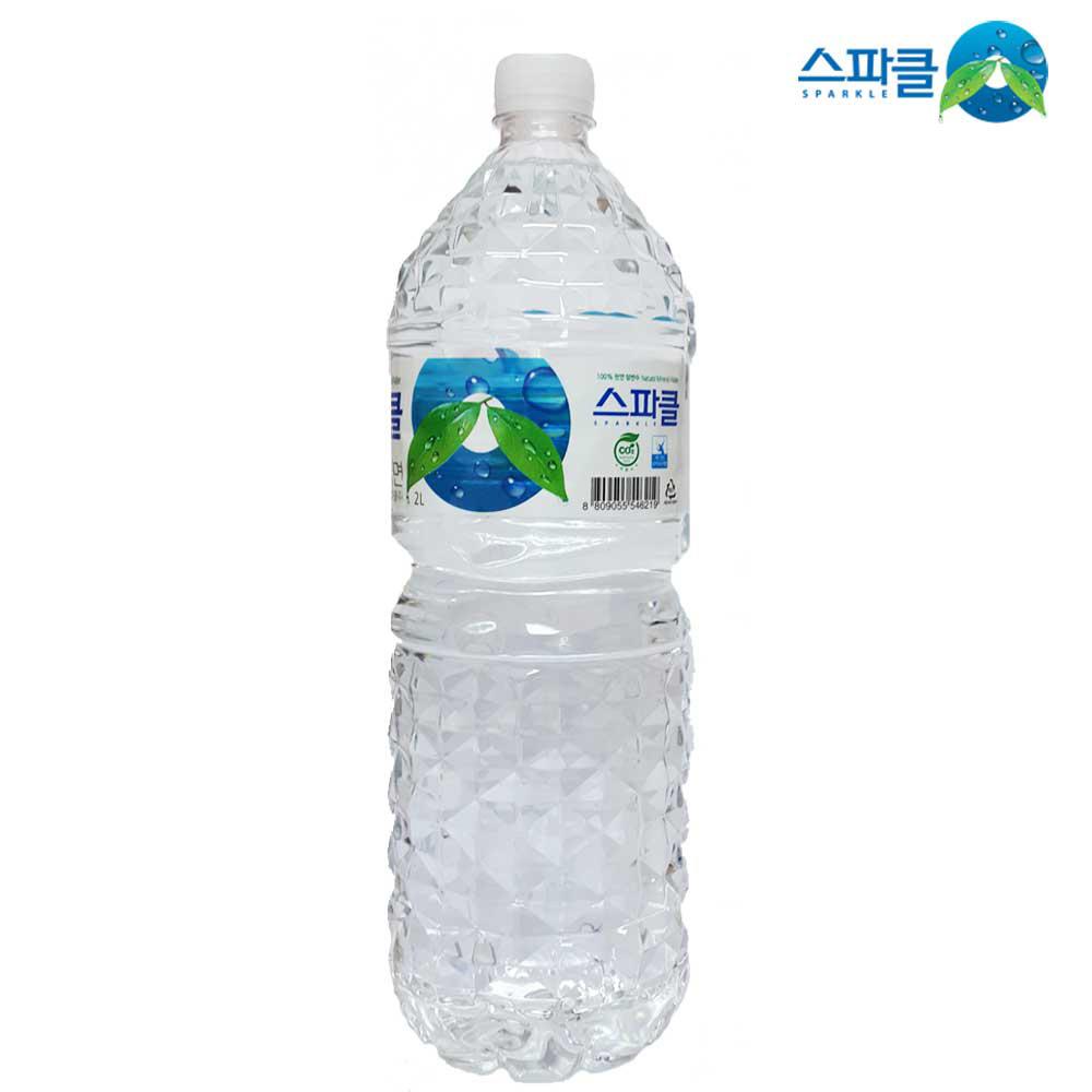 스파클 먹는샘물 2L X6개 생수 먹는샘물 물 음료 2L생수