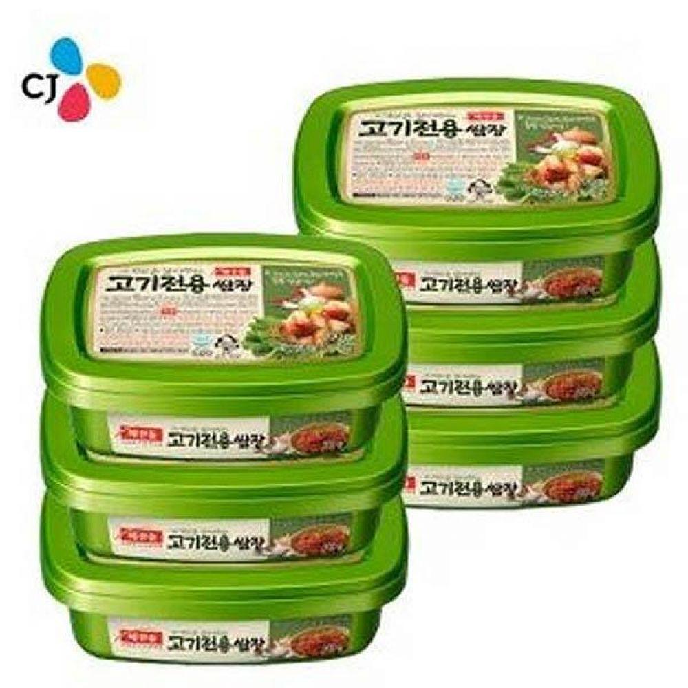 CJ)해찬들 고기전용 쌈장200g x 6개 상추 깻잎 돼지고기 삼겹살 소스