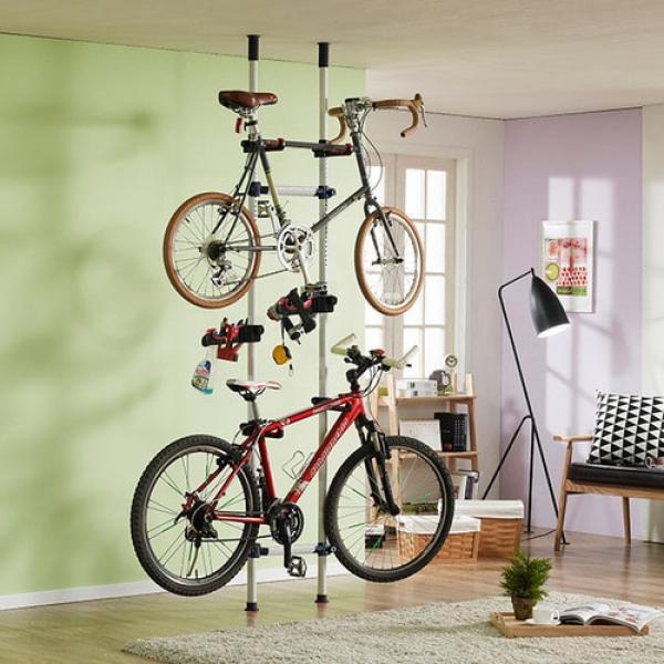 버원 폴 자전거 거치대 3단 자전거거치대 거치대 실내자전거거치대 자전거실내거치대 스노우보드거치대 보드거치대