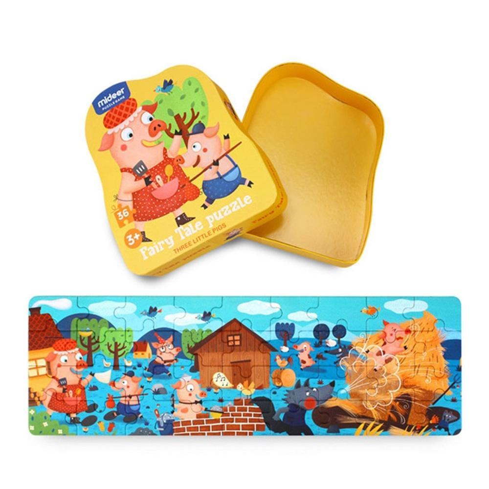 선물 3살 4살 유아 명작 동화 퍼즐 아기돼지삼형제 퍼즐 어린이교구 창의교구 아동퍼즐 창작놀이
