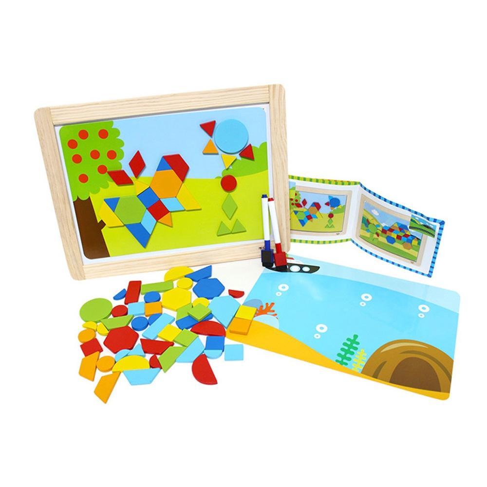 장난감 유아 학습 아동 놀이 모양 자석 퍼즐 아이 퍼즐 블록 블럭 장난감 유아블럭