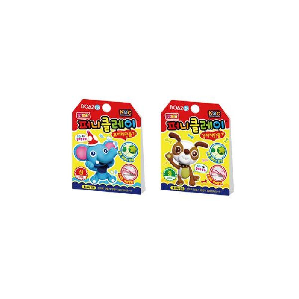 피니클레이 동물 만들기 2종(코끼리 x 강아지) 칠판 사무 마카 업무 문구도매