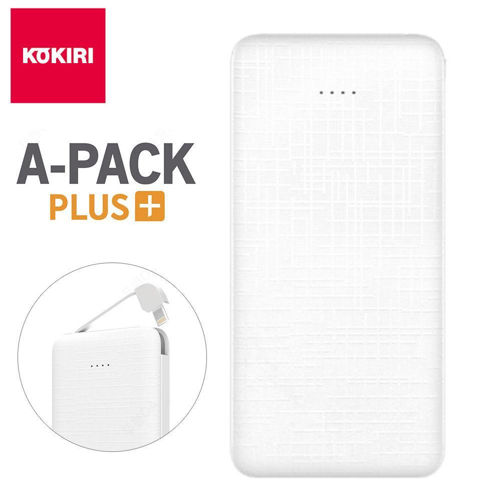 코끼리 A팩 보조배터리 10000mAh (KP-LT100M) (화이트) 보조 배터리 스마트폰 밧데리 핸드폰