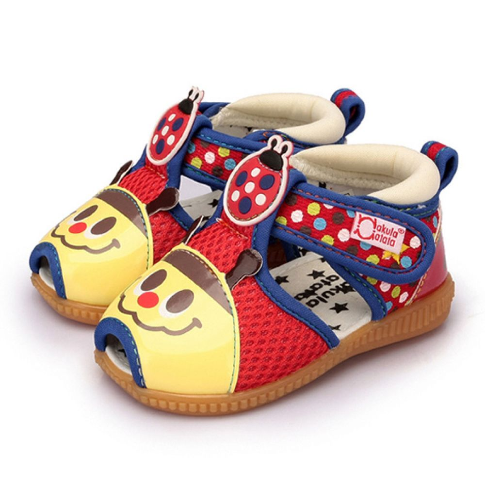 레이디버그 삑삑이샌들(1-4세) 203881 아기샌들 유아샌들 삑삑이샌들 삑삑이신발 아기신발 유아신발 걸음마신발 보행기화 보행기신발