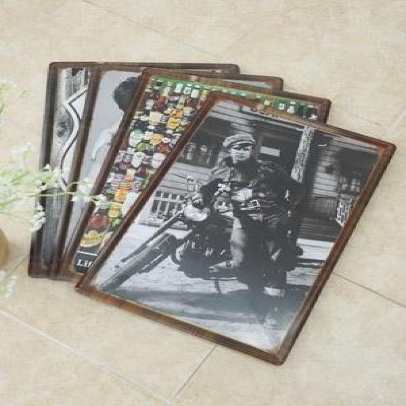 틴 액자 벽장식(모델외) 4type 벽액자인테리어 벽장식 빈티지액자 벽사진액자 홈사진액자
