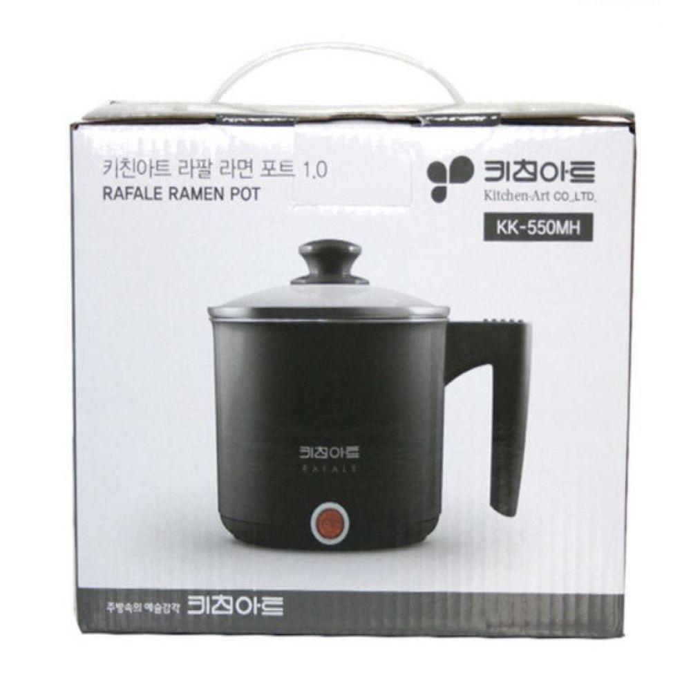 키친아트 라팔 라면포트1L 블랙(KK-550MH) 전기 멀티 다용도 쿠커 커피 주방