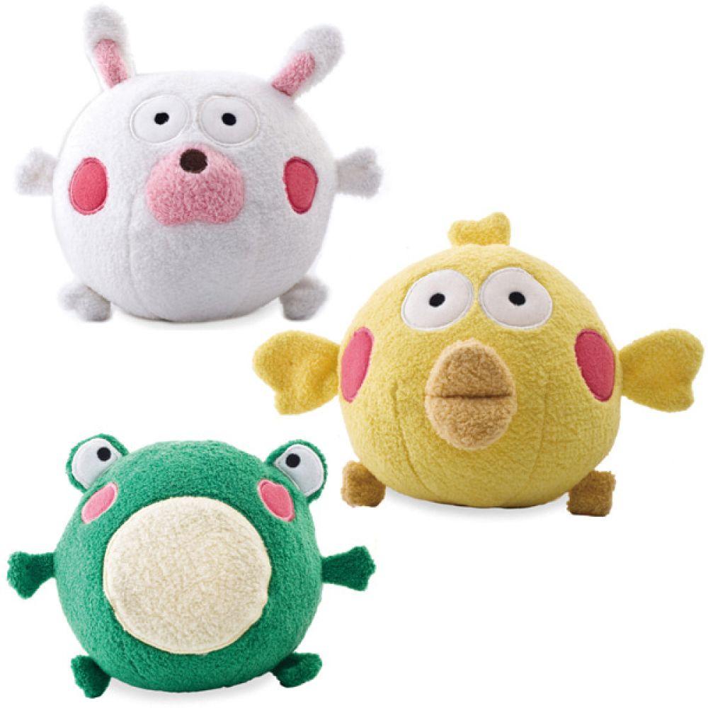 통통공 동물세트 3종 55011 아기공 봉제공 아기장난감 유아공 아기공 아기장난감 헝겊공 봉제공