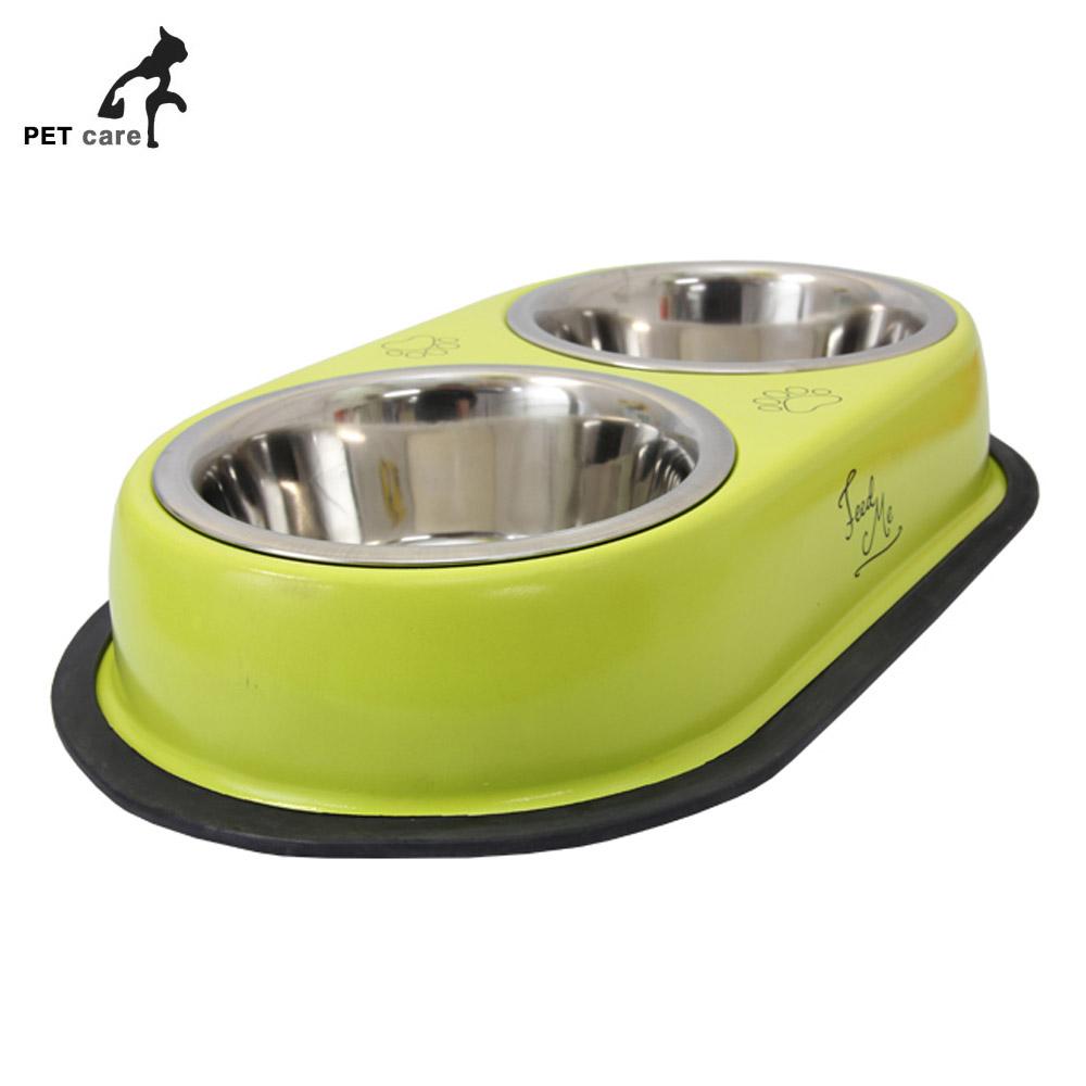스텐 쌍식기 중 강아지 급식기 애견용품 개급식기 개급식기 급수기 급식기 애견용품 강아지