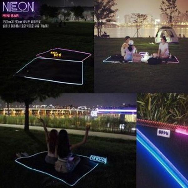 LED 네온돗자리 LED 네온매트 미니바 캠핑매트