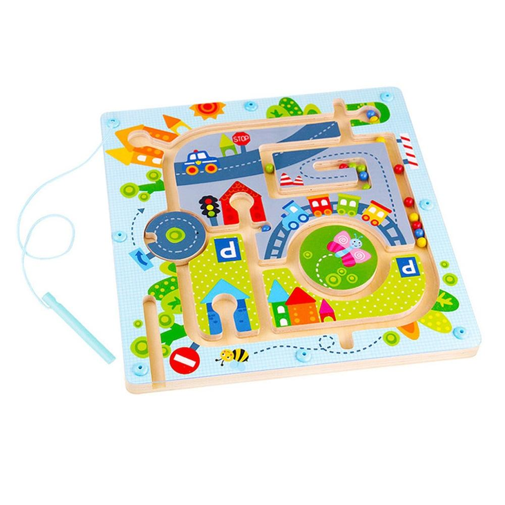 장난감 유아 학습 아동 놀이 자석 미로 도시 아이 퍼즐 블록 블럭 장난감 유아블럭