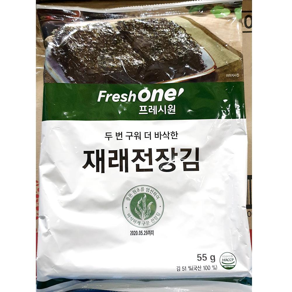 구운김 전장김 프레시원 55g x20개 조미김 구은김 프레시원 조미 조미김 전장김 구운김