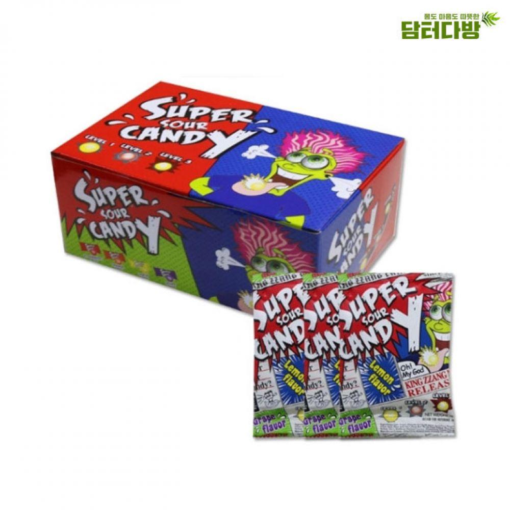 슈퍼샤워캔디(super sour candy) 16g x 30개 한박스 캔디 졸음방지캔디 슈퍼샤워캔디 사탕 대용량