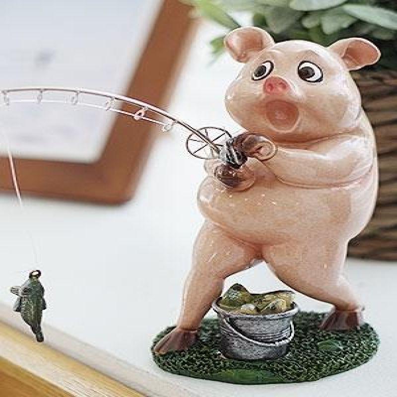 핑크 돼지 낚시