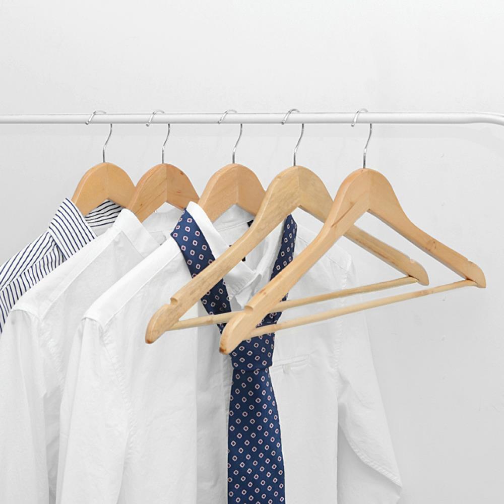 5p 가정용 매장용 원목 정장옷걸이 옷걸이 나시걸이 바지옷걸이 바지걸이 논슬립옷걸이 정장옷걸이 미끄럼방지옷걸이