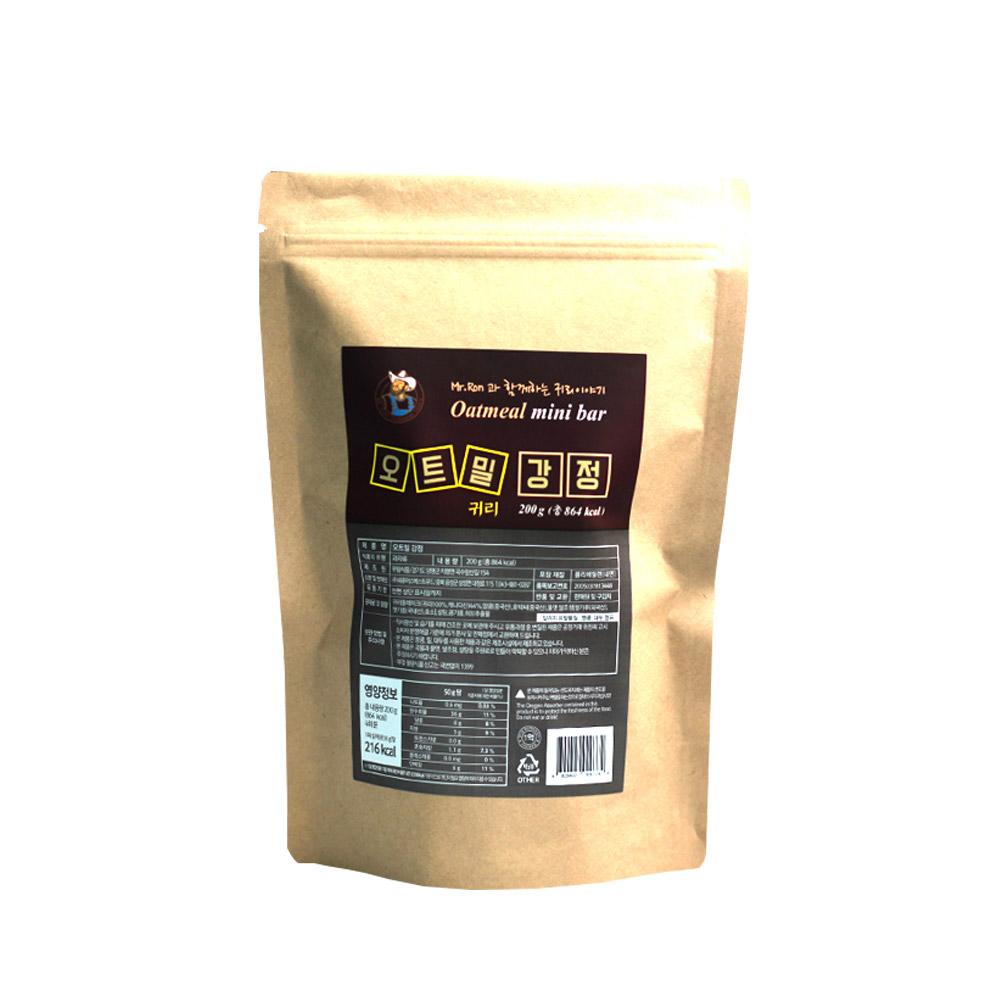 캐나다 오트밀 귀리강정 200g 오트밀 강정 스틱 간식 식이섬유 귀리 에너지바