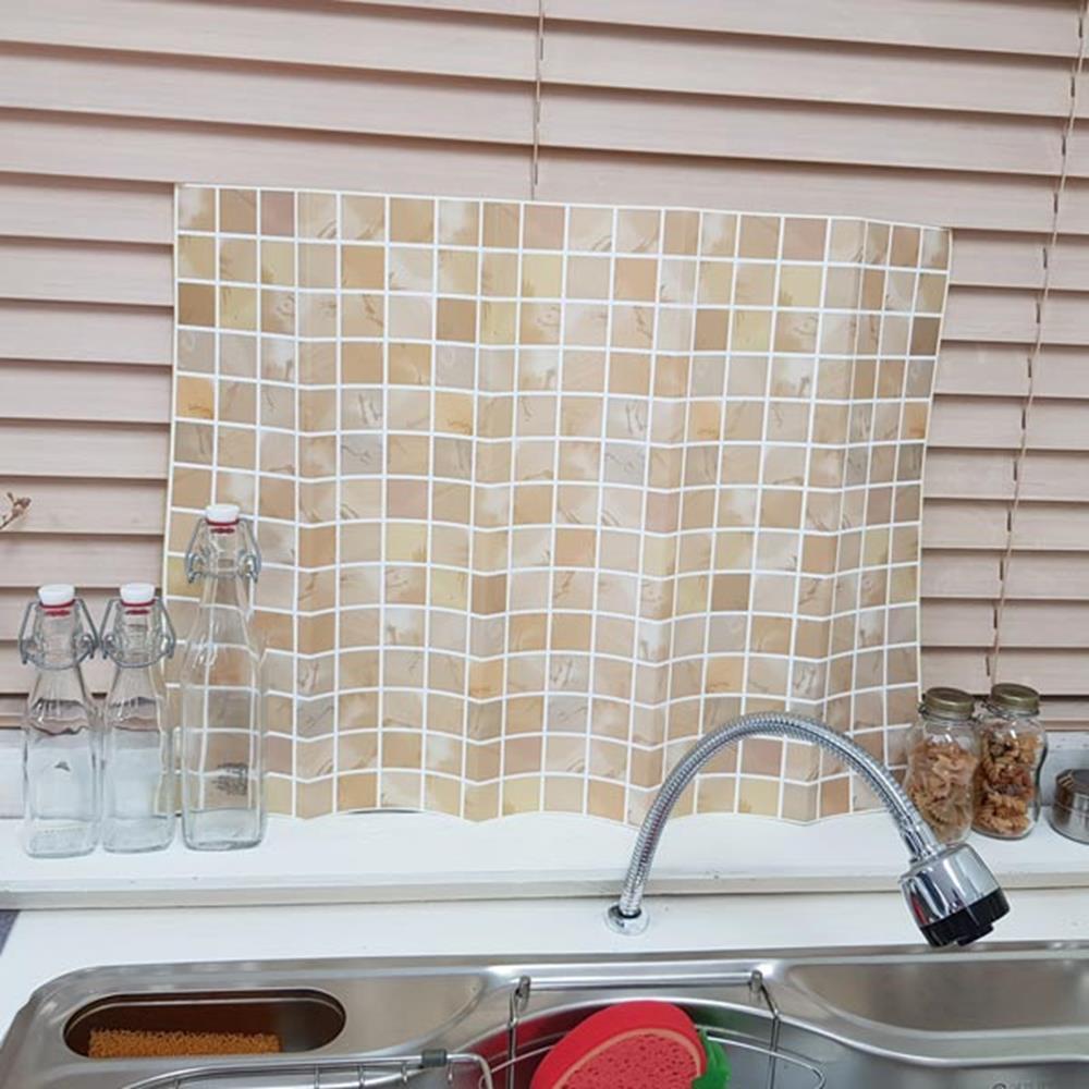 타일무늬 인테리어시트 브라운 포인트시트지 벽지커버 스티커벽지 포인트시트지 주방시트지 벽지커버 타일스티커