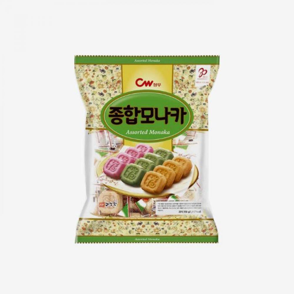 청우 종합 모나카 350g 1박스 청우식품 간식 주전부리 스낵 과자 캔디 모나카