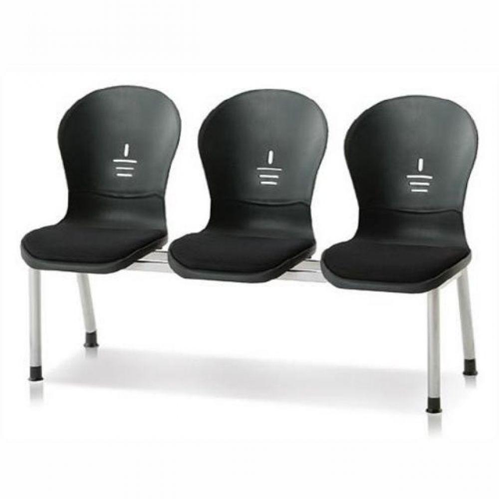 3인용 연결의자 테트라(사출-인조가죽) 600 로비의자 휴게실의자 대기실의자 장의자 3인용의자 2인용의자 약국의자 대합실의자