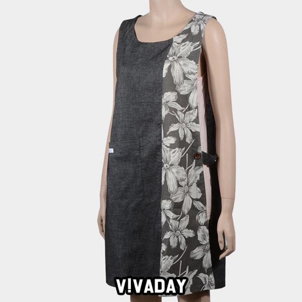 VIVADAY-SC340 꽃배색 앞치마 앞치마 주방 주방용품 주방앞치마 여성앞치마 여자앞치마 요리 저녁