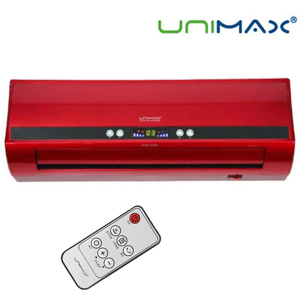 유니맥스929 리모컨 벽걸이 세라믹 온풍기 온풍기 벽걸이 히터 전기히터 무설치
