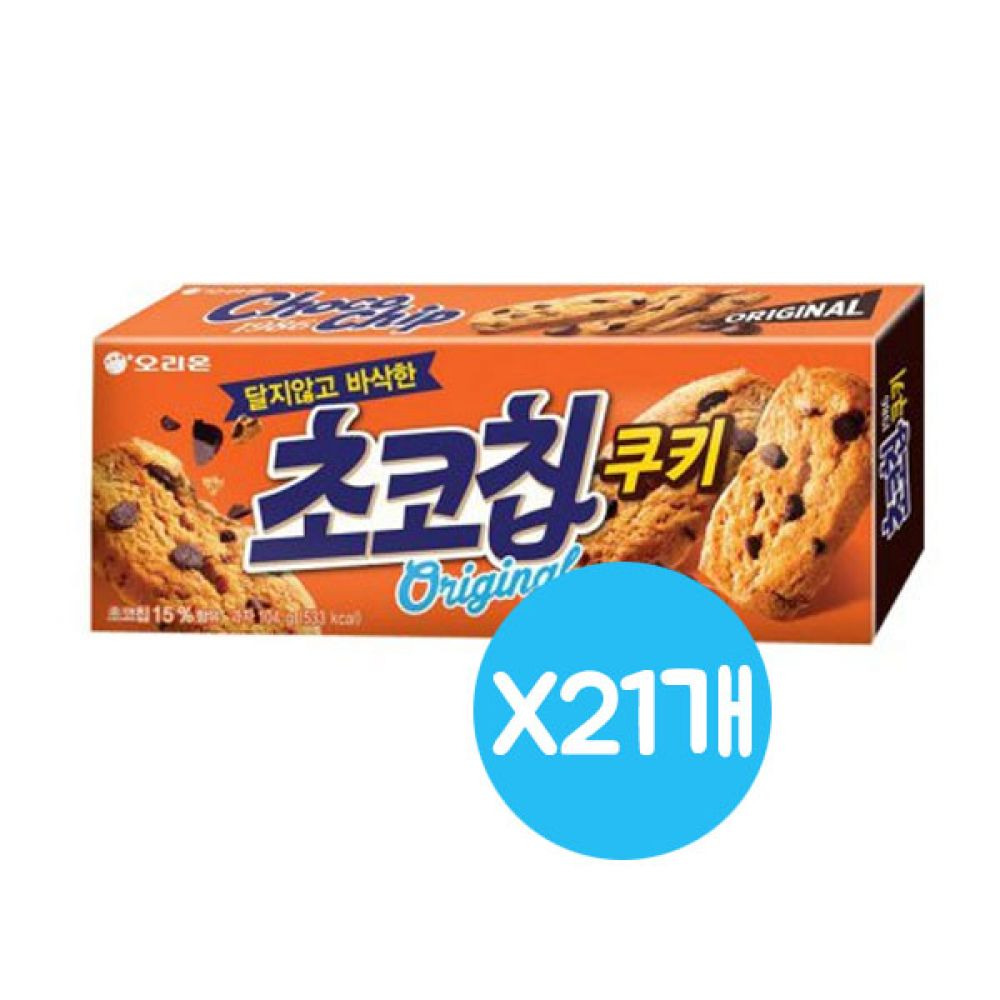 오리온 초코칩쿠키 1박스(104gx27각) 쿠키 비스킷 학원 학교 어린이집 단체 대량도매