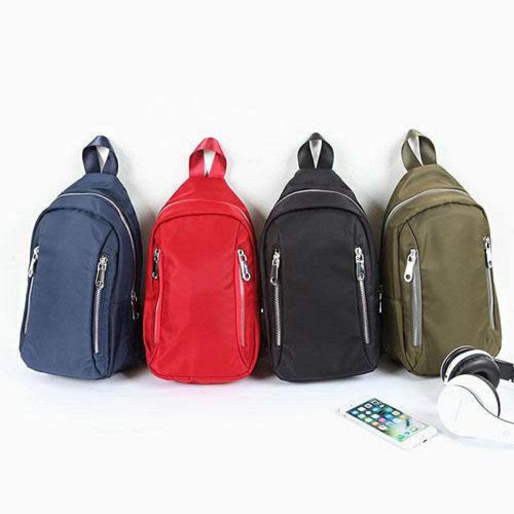UL_IUU018 더블 세로지퍼 컬러 슬링백 캐주얼슬링백 캐주얼가방 예쁜가방 심플한가방 미니백