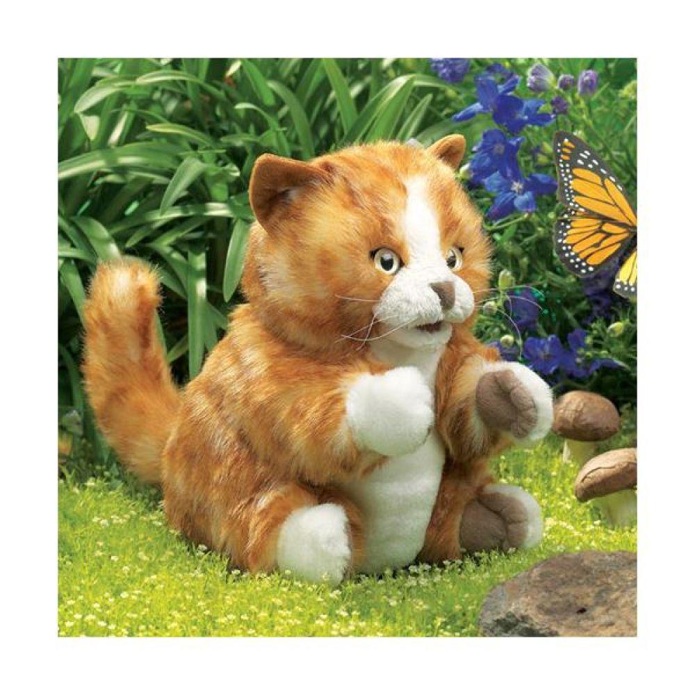 노란 얼룩고양이 고급 손인형 완구 문구 장난감 어린이 캐릭터 학습 교구 교보재 인형 선물