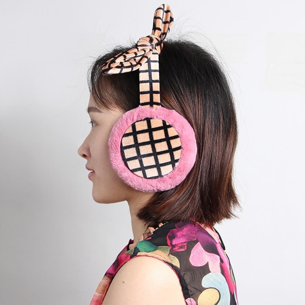 체크 리본 귀마개 귀마게 방한용품 방한귀마개 귀돌이 방한용품 귀마게 귀덮개 귀돌이 귀덮게