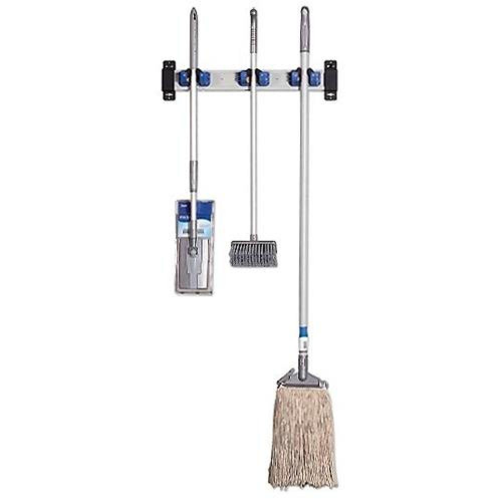 청소도구행거 3구 청소용품걸이 청소용품 청소도구 청소도구걸이 청소도구정리 청소도구벽걸이