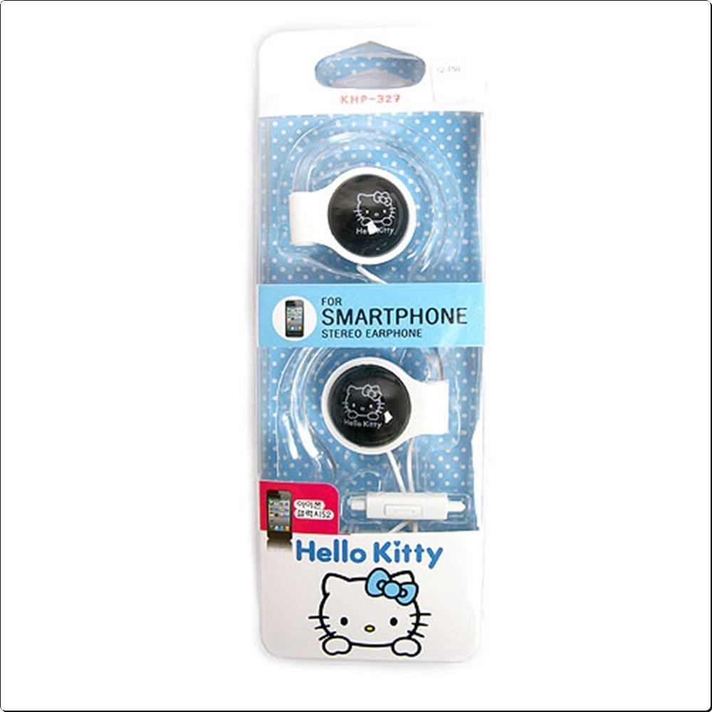 헬로키티 헤드폰 KHP-327 블랙 이어폰 캐릭터 캐릭터상품 생활잡화 잡화 유아용품