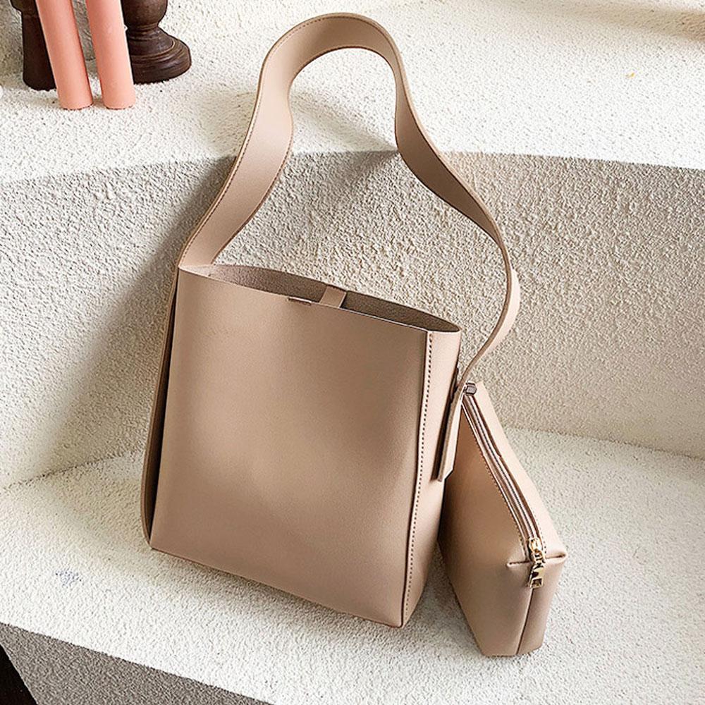 베이지 데일리 숄더 크로스백 여성 가방 내부 파우치 숄더백 캔버스숄더백 여성숄더백 여자숄더백 캔버스백