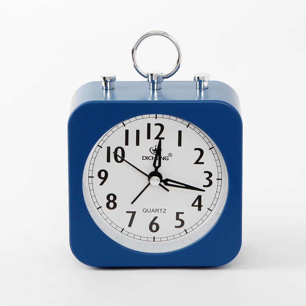 알람시계 블루 사각 무소음 인테리어시계 탁상시계 무소음시계 알람시계 생활용품 인테리어시계 탁상시계