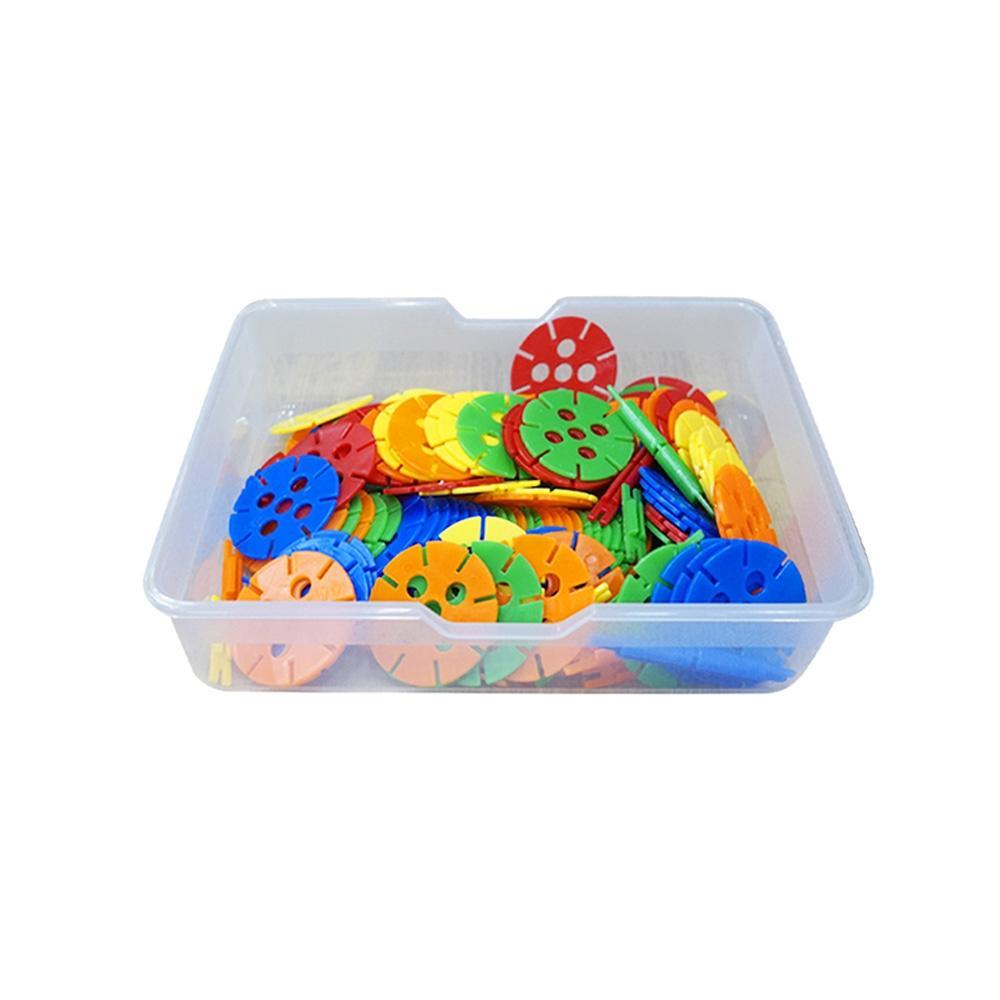유치원 유아 만들기 장난감 블록 왕꽃잎 블럭 바구니 퍼즐 블록 블럭 장난감 유아블럭