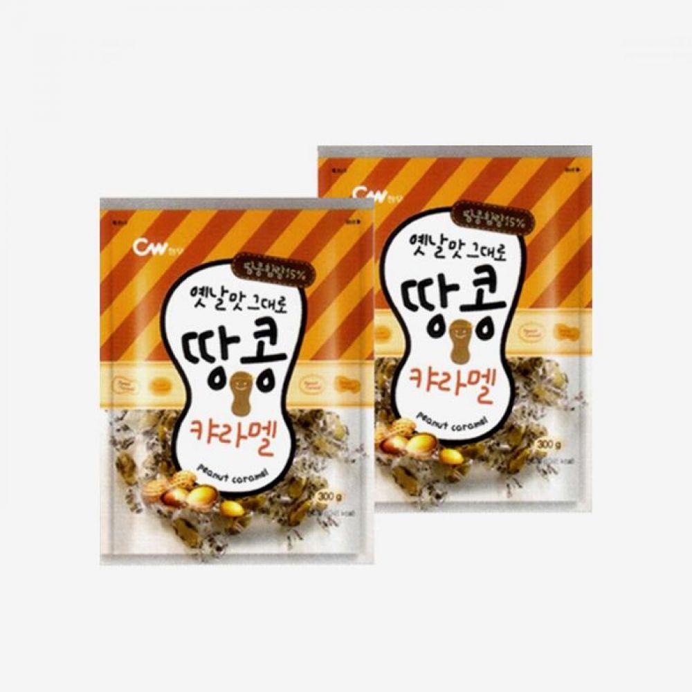 청우 땅콩 캬라멜 2번들 600g 1박스 청우식품 간식 주전부리 스낵 과자 캔디 땅콩캬라멜