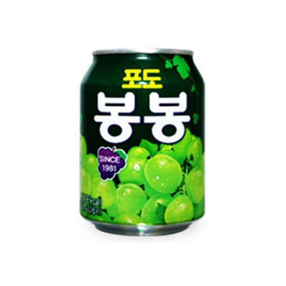 해태) 포도봉봉 238ml x 72캔 믿을 수 있는 정품정량 음료 음료수 음료수 주스 과일주스