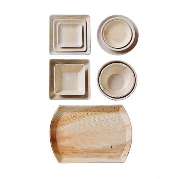 본플라 천연야자나무 일회용 패밀리 세트 (12개 세트) 주방소품 일회용접시 피크닉 포장용기 집들이