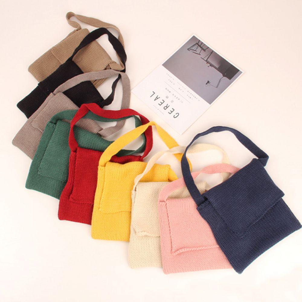 심플커버 니트 가방 아동용니트가방 니트가방 아동가방