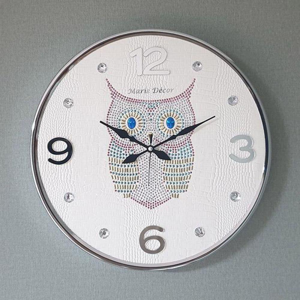 스위트부엉이 무소음 벽시계(대) 아이보리 벽시계 벽걸이시계 인테리어벽시계 예쁜벽시계 인테리어소품