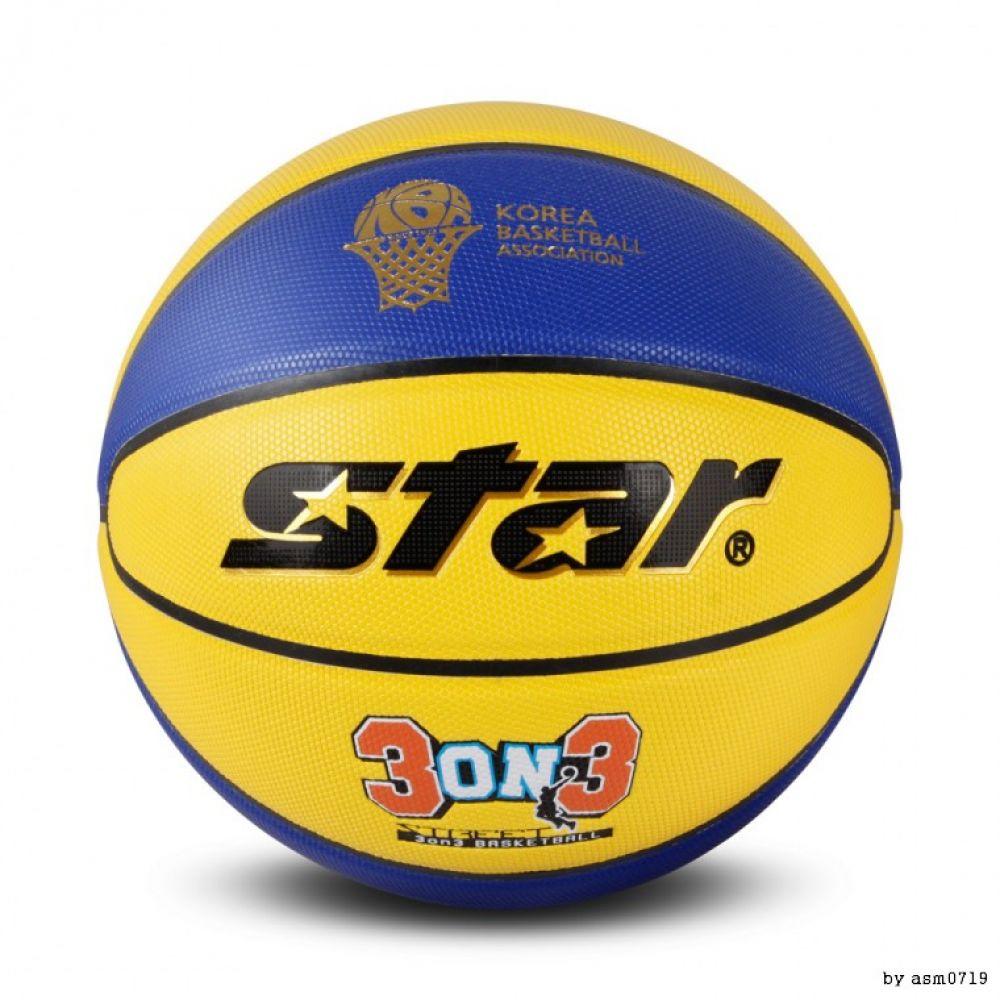 STAR 스타 농구공 3on3 9판넬볼 3대3전용 공 농구공 규격공 드리블공 바스켓볼 3on3 3대3전용 길거리농구