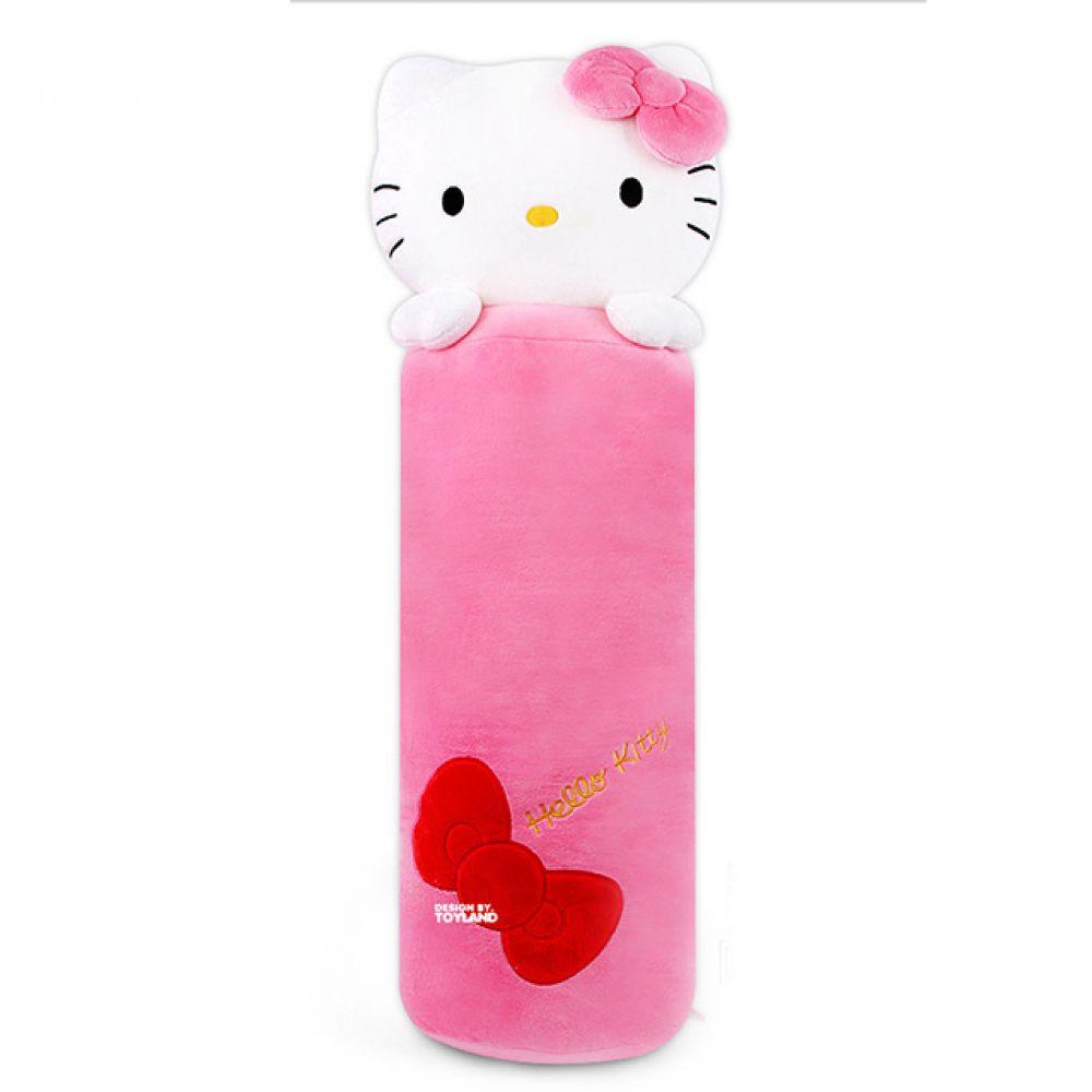 헬로키티 롱쿠션(100cm)-핑크 헬로키티 키티인형 고양이인형 캐릭터인형 베개 동물인형 헬로키티장난감 고양이 인형선물 귀여운인형