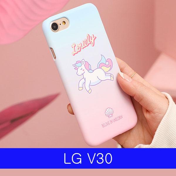 몽동닷컴 LG V30 러블리 유니콘 하드 V300 케이스 엘지V30케이스 LGV30케이스 V30케이스 엘지V300케이스 LGV300케이스