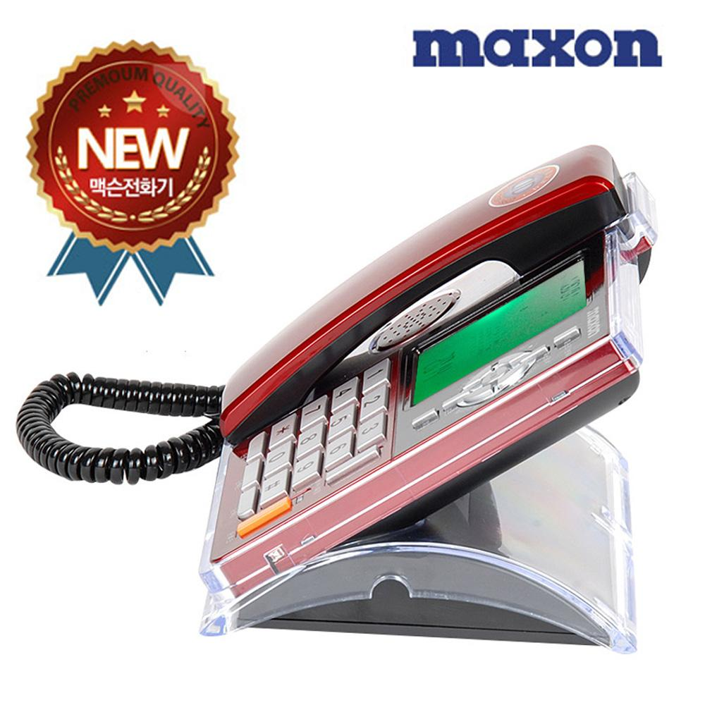 맥슨207 선명액정 투명아크릴커버 유선전화기 맥슨 전화기 유선전화기 단축번호 CID