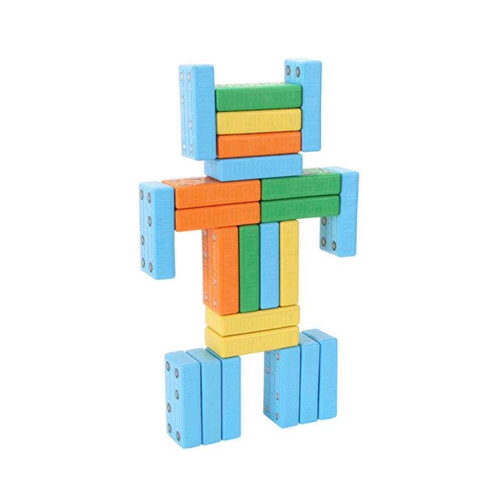 직사각형 유아 만들기 장난감 블록 벽돌 자석 블럭 퍼즐 블록 블럭 장난감 유아블럭
