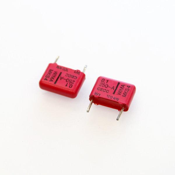 위마 콘덴서 캐패시터 Wima 250V 0.1uF  / MKS4 2개 콘덴서 오디오 캐패시티 audio 위마 WIMA 독일