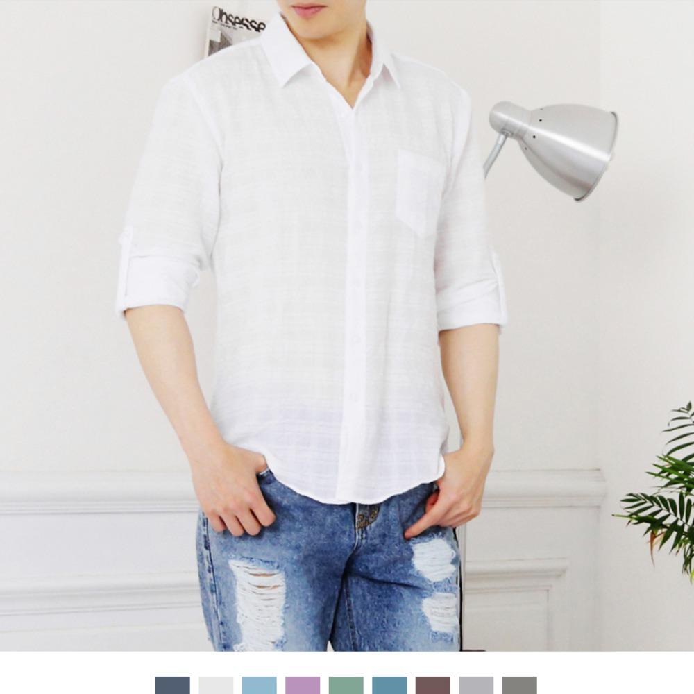 린넨 라이크 포켓 롤업 셔츠 남방 9colors 남자와이셔츠 와이셔츠 남자셔츠 옥스포드셔츠 남성셔츠 남자정장셔츠 정장와이셔츠 빅사이즈셔츠 화이트셔츠 블랙셔츠 슬림핏셔츠 무지셔츠 심플셔츠 남자체크셔츠 남자스트라이프셔츠