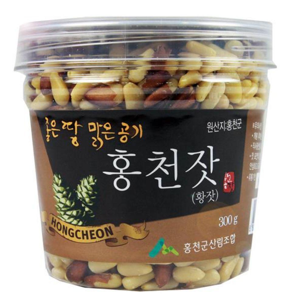 홍천군산림조합 홍천황잣 (pet) 300g 농산물 신선식품 견과류 잣 잣땅콩